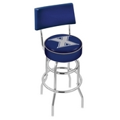 L7C4 - Chrome Double Ring Xavier Swivel Bar Stool with a Back by Holland Bar Stool Company