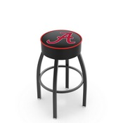 L8B1 - 4 Alabama Cushion Seat with Black Wrinkle Base Swivel Bar Stool by Holland Bar Stool Company (ALogo)