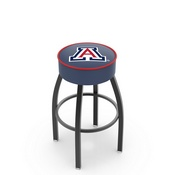L8B1 - 4 Arizona Cushion Seat with Black Wrinkle Base Swivel Bar Stool by Holland Bar Stool Company