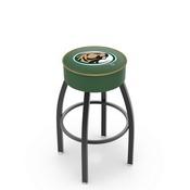 L8B1 - 4 Bemidji State Cushion Seat with Black Wrinkle Base Swivel Bar Stool by Holland Bar Stool Company