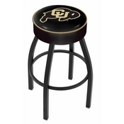 L8B1 - 4 Colorado Cushion Seat with Black Wrinkle Base Swivel Bar Stool by Holland Bar Stool Company