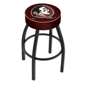L8B1 - 4 Florida State (Head) Cushion Seat with Black Wrinkle Base Swivel Bar Stool by Holland Bar Stool Company