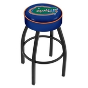 L8B1 - 4 Florida Cushion Seat with Black Wrinkle Base Swivel Bar Stool by Holland Bar Stool Company