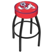 L8B1 - 4 Fresno State Cushion Seat with Black Wrinkle Base Swivel Bar Stool by Holland Bar Stool Company