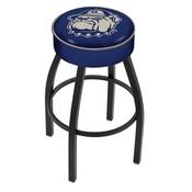 L8B1 - 4 Georgetown Cushion Seat with Black Wrinkle Base Swivel Bar Stool by Holland Bar Stool Company