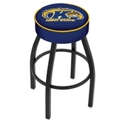 L8B1 - 4 Kent State Cushion Seat with Black Wrinkle Base Swivel Bar Stool by Holland Bar Stool Company