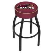 L8B1 - 4 Louisiana-Monroe Cushion Seat with Black Wrinkle Base Swivel Bar Stool by Holland Bar Stool Company