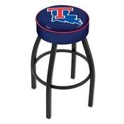L8B1 - 4 Louisiana Tech Cushion Seat with Black Wrinkle Base Swivel Bar Stool by Holland Bar Stool Company