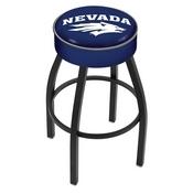 L8B1 - 4 Nevada Cushion Seat with Black Wrinkle Base Swivel Bar Stool by Holland Bar Stool Company