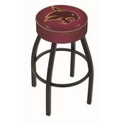 L8B1 - 4 Texas State Cushion Seat with Black Wrinkle Base Swivel Bar Stool by Holland Bar Stool Company
