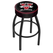 L8B1 - 4 Valdosta State Cushion Seat with Black Wrinkle Base Swivel Bar Stool by Holland Bar Stool Company