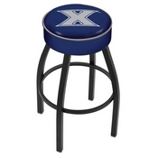 L8B1 - 4 Xavier Cushion Seat with Black Wrinkle Base Swivel Bar Stool by Holland Bar Stool Company