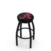 L8B2B - Black Wrinkle Alabama Swivel Bar Stool with Accent Ring by Holland Bar Stool Company (ALogo)