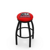 L8B2B - Black Wrinkle Alabama Swivel Bar Stool with Accent Ring by Holland Bar Stool Company