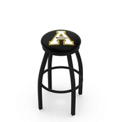 L8B2B - Black Wrinkle Appalachian State Swivel Bar Stool with Accent Ring by Holland Bar Stool Company
