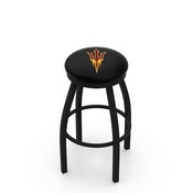 L8B2B - Black Wrinkle Arizona State Swivel Bar Stool with Accent Ring and Pitchfork Logo by Holland Bar Stool Company