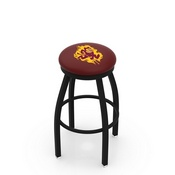 L8B2B - Black Wrinkle Arizona State Swivel Bar Stool with Accent Ring and Sparky Logo by Holland Bar Stool Company