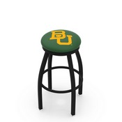 L8B2B - Black Wrinkle Baylor Swivel Bar Stool with Accent Ring by Holland Bar Stool Company
