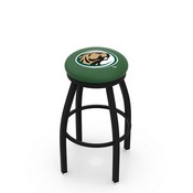 L8B2B - Black Wrinkle Bemidji State Swivel Bar Stool with Accent Ring by Holland Bar Stool Company