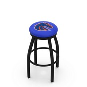 L8B2B - Black Wrinkle Boise State Swivel Bar Stool with Accent Ring by Holland Bar Stool Company