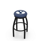 L8B2B - Black Wrinkle Brigham Young Swivel Bar Stool with Accent Ring by Holland Bar Stool Company