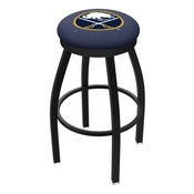 L8B2B - Black Wrinkle Buffalo Sabres Swivel Bar Stool with Accent Ring by Holland Bar Stool Company