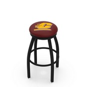 L8B2B - Black Wrinkle Central Michigan Swivel Bar Stool with Accent Ring by Holland Bar Stool Company