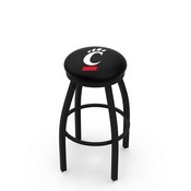 L8B2B - Black Wrinkle Cincinnati Swivel Bar Stool with Accent Ring by Holland Bar Stool Company
