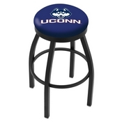 L8B2B - Black Wrinkle Connecticut Swivel Bar Stool with Accent Ring by Holland Bar Stool Company