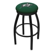L8B2B - Black Wrinkle Dallas Stars Swivel Bar Stool with Accent Ring by Holland Bar Stool Company