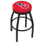 L8B2B - Black Wrinkle University of Dayton Swivel Bar Stool with Accent Ring by Holland Bar Stool Company