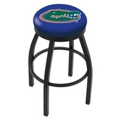 L8B2B - Black Wrinkle Florida Swivel Bar Stool with Accent Ring by Holland Bar Stool Company