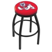 L8B2B - Black Wrinkle Fresno State Swivel Bar Stool with Accent Ring by Holland Bar Stool Company