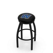 L8B2B - Black Wrinkle Grand Valley State Swivel Bar Stool with Accent Ring by Holland Bar Stool Company