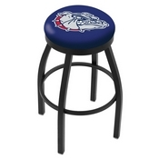 L8B2B - Black Wrinkle Gonzaga Swivel Bar Stool with Accent Ring by Holland Bar Stool Company