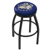 L8B2B - Black Wrinkle Georgetown Swivel Bar Stool with Accent Ring by Holland Bar Stool Company