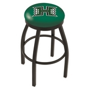 L8B2B - Black Wrinkle Hawaii Swivel Bar Stool with Accent Ring by Holland Bar Stool Company