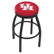 L8B2B - Black Wrinkle Houston Swivel Bar Stool with Accent Ring by Holland Bar Stool Company