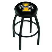 L8B2B - Black Wrinkle Idaho Swivel Bar Stool with Accent Ring by Holland Bar Stool Company