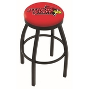 L8B2B - Black Wrinkle Illinois State Swivel Bar Stool with Accent Ring by Holland Bar Stool Company