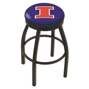 L8B2B - Black Wrinkle Illinois Swivel Bar Stool with Accent Ring by Holland Bar Stool Company