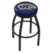 L8B2B - Black Wrinkle Kent State Swivel Bar Stool with Accent Ring by Holland Bar Stool Company