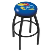 L8B2B - Black Wrinkle Kansas Swivel Bar Stool with Accent Ring by Holland Bar Stool Company