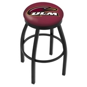 L8B2B - Black Wrinkle Louisiana-Monroe Swivel Bar Stool with Accent Ring by Holland Bar Stool Company