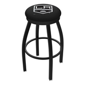 L8B2B - Black Wrinkle Los Angeles Kings Swivel Bar Stool with Accent Ring by Holland Bar Stool Company