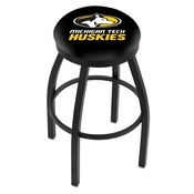 L8B2B - Black Wrinkle Michigan Tech Swivel Bar Stool with Accent Ring by Holland Bar Stool Company