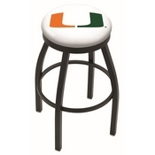 L8B2B - Black Wrinkle Miami (FL) Swivel Bar Stool with Accent Ring by Holland Bar Stool Company