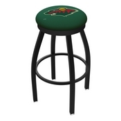 L8B2B - Black Wrinkle Minnesota Wild Swivel Bar Stool with Accent Ring by Holland Bar Stool Company