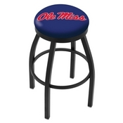 L8B2B - Black Wrinkle Ole' Miss Swivel Bar Stool with Accent Ring by Holland Bar Stool Company