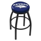 L8B2B - Black Wrinkle Nevada Swivel Bar Stool with Accent Ring by Holland Bar Stool Company